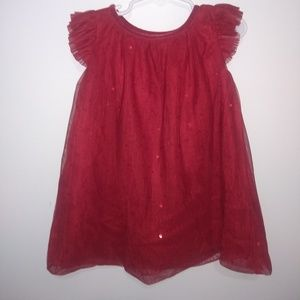 Cat & Jack red sequin party dress